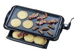 Features:  Finish: -Black.  Material: -Metal.  Product Type: -Electric griddle…