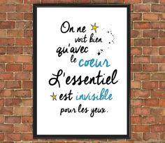 Le Petit Prince citation affiche célèbre 013 Le Petit par wtfoxart