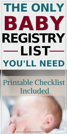 The Only Baby Registry List You'll Need: Printable Checklist Included Stressing out about the best baby registry list? With my list of all baby essentials & printable baby registry checklist, you'll h Baby Registry Essentials, Best Baby Registry, Baby Shower Registry, Baby Registry Items, Baby Registry Must Haves, Baby Registry Checklist, Baby Must Haves, List Of Baby Essentials, Amazon Baby