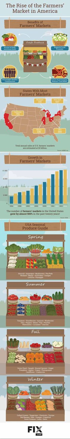 Farmer's Market Rise | Growing & Homesteading in America | Statistics And Benefits Of Growing Your Own Food | Self Sufficiency Ideas And Tips by Pioneer Settler http://pioneersettler.com/farmers-market-rise/
