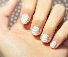Washi tape/Sellotape nail striping