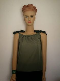Greenie Dresses for Less: DIY Gathered Camisole Top + FREE Pattern Instructi...