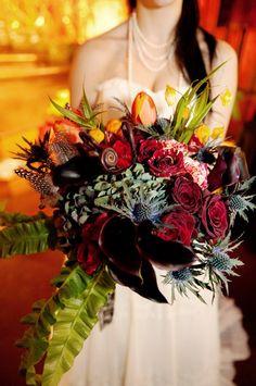 gothic new york ballroom wedding- so much fun...Tim Burton's 'Alice in Wonderland' inspired!