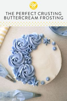 Crusting Buttercream Frosting Recipe, Frosting Recipes, Buttercream Flowers, Cake Icing, Eat Cake, Cake Recipes, Cake Cookies, Cupcake Cakes, Cupcakes