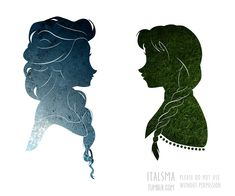 Do You Want to Build A Snowman? Elsa and Anna from Disney's Frozen A slightly different approach to silhouettes from what I have done in the past! The classic versions should be up soon! Disney Couples, Disney Love, Disney Magic, Disney Frozen, Disney Art, Snow Queen, Disney Tattoos, Disney Films, Disney And Dreamworks