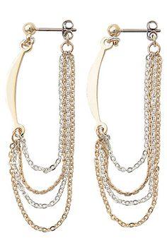 Drape Chain Earrings