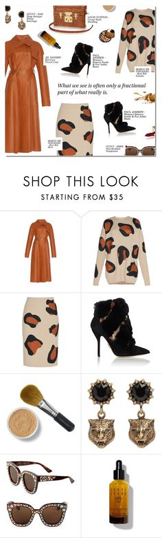 """""""THE FRACTIONAL PART"""" by larissa-takahassi ❤ liked on Polyvore featuring Jil Sander, Marco de Vincenzo, Paul Andrew, Louis Vuitton, Bare Escentuals, Gucci, Chanel, Bobbi Brown Cosmetics and chunkyknits"""