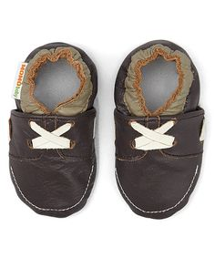 Love this Brown Loafer Leather Bootie by MOMO Baby on #zulily! #zulilyfinds