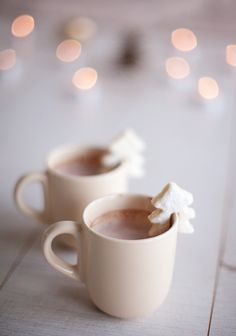 #christmas #tree #marshmallows #hot #chocolate #cute #sweets #drink