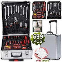 2017+Mechanic+Kit+Box+Case+Organize+Castors+Toolbox+Trolley+Keys+Kit.++599-PCS-Tool-Set