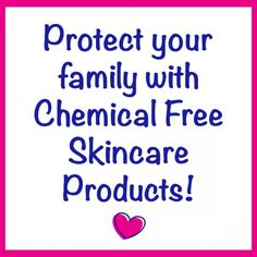 Time to ditch the harsh chemicals in your skincare and replace them with much healthier, natural, chemical-free skincare products!