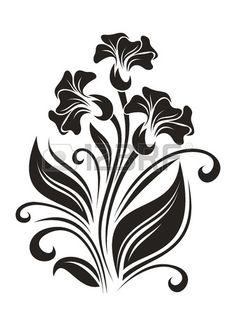 Flowers ornament. illustration. Stock Vector - 19594909