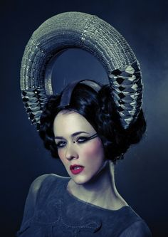 Interactive Fashionable Headdress Responds To The Wink Of An Eye - PSFK
