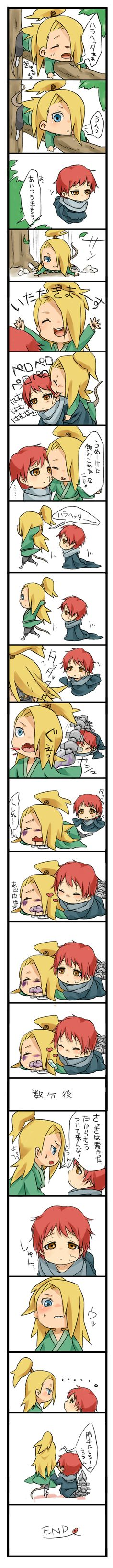 Sasori and Deidara as child. OMG!! ♥