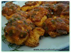 Caprichos by Neli: Filé de frango assado com gratinado de palmito