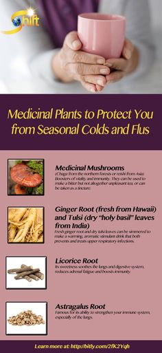 Medicinal Plants to Protect You from Seasonal Colds and Flus: By expanding your home medicine cabinet to include medicinal plants and essential oils you can protect your respiratory system. Here are a few of the plants (dried, fresh or as essential oils) recommended to protect your health during cold and flu season. Read more at: http://blog.theshiftnetwork.com/medicinal-plants-to-protect-you-from-colds-and-flus/?utm_source=pinterestcpc&utm_medium=plantsforprotecting01-crow111016