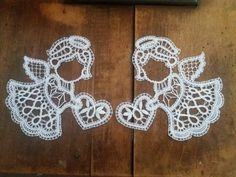 Bobbin Lace Patterns, Crochet Angels, Xmas, Christmas, Sewing Projects, Crochet Earrings, Embroidery, Handmade, Facebook
