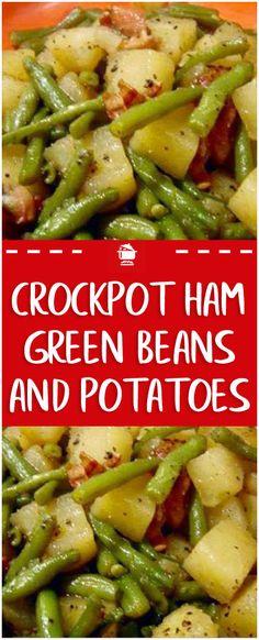 Amazing Crockpot Ham, Green Beans and Potatoes! The Amazing Crockpot Ham, Green Beans and Potatoes!The Amazing Crockpot Ham, Green Beans and Potatoes! Ham And Green Beans, Crockpot Green Beans, Green Beans And Potatoes, Crockpot Dishes, Crock Pot Slow Cooker, Slow Cooker Recipes, Cooking Recipes, Ham In Crockpot, Small Crockpot Recipes