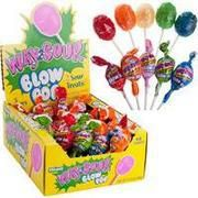 72 Way Sour Charm Blow Pops Lollipops Gum Filled Center Candy New Lot #nvcandy, GREAT for birthday parties, Easter Basket, Candy Buffets