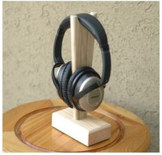 Wooden Handwork Headphone Earphone Stand Holder Shelves Desktop Stand | eBay