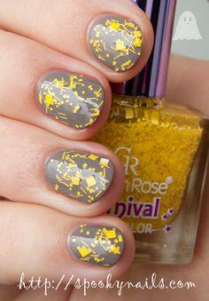 Golden Rose Carnival #14 on Pupa Color Gel #28 Metal Pastel