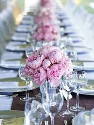 Peonies, classic. Could use some white in there. And if changed to pink then perfect for Hannah's big day