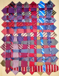 Quilt Inspiration: Necktie quilts for Dad