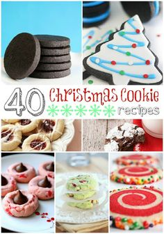 40  Christmas Cookies - thecraftedsparrow.com