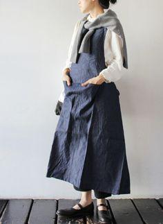 [Yarmo] BIB Apron Dress 商品詳細 TAKANNA/たかんな - ONLINE SHOP