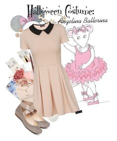 """""""Angelina Ballerina Halloween costume."""" by megiem ❤ liked on Polyvore featuring Isaac Mizrahi, Accessorize, LAQA & Co., Essie, Charlotte Tilbury, Dogeared, Bloomingdale's, Betsey Johnson and Cult Gaia"""