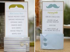 Love this! I can get some old collared shirts at the thrift store and cut them up to hold the menu cards.