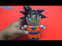Origami 3D Mini goku - YouTube