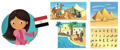 I'm Ready to Explore My World - Barbara Bongini #egypt #world #country #flag #culture #food #childrensbook #illustration #kidlitart #barbarabongini