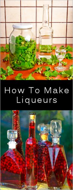 in mind they'll need to steep for at least a few weeks (with some recipes requiring up to 3 months). Top your chosen ingredients with vodka or brandy and let the flavors infuse the alcohol. Party Drinks, Cocktail Drinks, Fun Drinks, Yummy Drinks, Cocktail Recipes, Alcoholic Drinks, Beverages, Homemade Alcohol, Homemade Liquor