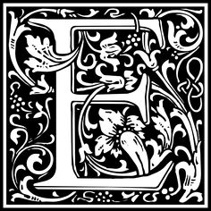 Free Clipart: William Morris Letter E | Symbol | kuba