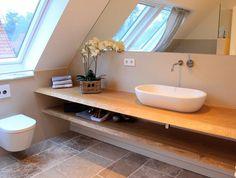 Waschtisch Waschtischplatte Waschtischkonsole Konsole Massivholzplatte auf Maß | Holzwerk-Hamburg