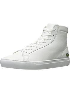 Lacoste Men's L.12.12 Mid 316 1 Cam Fashion Sneaker, White, 10 M US ❤ Lacoste