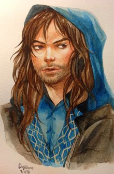 Watercolor painting of Kili (digitkame0