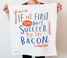 A self-proclaimed truth-teller, illustrator Emily McDowell has a healthy sense of humor. Her collections of dishtowels, totes, cards, and even temporary tattoos are enough to bring a smile to anyone's face.
