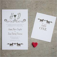 Printable Fox Wedding Invitations