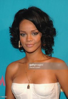 Singer Rihanna during MTV's 'TRL' announcing the nominations for the 2007 MTV Video Music Awards at MTV Studios in Times Square on August 7, 2007 in New York City.