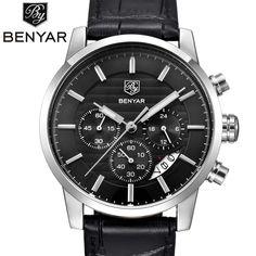 BENYAR 2016 Men Watches Top Brand Luxury Business Waterproof Sport Chronograph Quartz Man Watch Male Clock reloj hombre SAAT #jewelry, #women, #men, #hats, #watches, #belts, #fashion