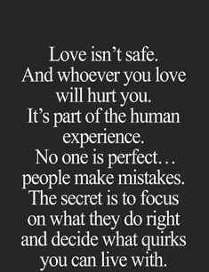 Love isn't safe