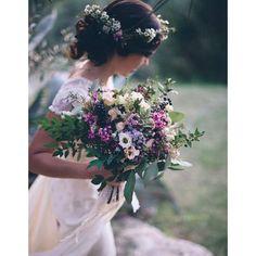 Bouquet de mariee mauve