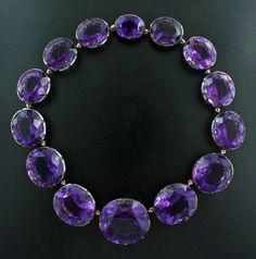 Amethyst, 18K rose gold, blackened silver necklace - James de Givenchy