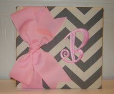 Chevron Album in Pink and Grey by doodlebugsga on Etsy, $27.50 Purchase at www.doodlebugsga.etsy.com