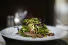 дикие грибы салат