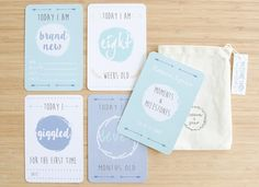 A beautifully presented set of 30 Arrow Collection Baby Milestone Cards.Our Baby Milestone Cards are designed to capture the most important milestones in your baby's first year.  Our Milestone Cards are printed onto high quality 350 gsm card, with 8mm rounded corners making them safe for your little ones. We have three uniquely designed collections - Arrow, Woodland