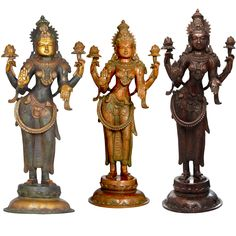 The Calming Gaze Of Padmavati Lakshmi, Hindu Brass Statue Hindu Statues, Money Pictures, Brass Statues, India Art, House Layouts, Picture Wall, Feng Shui, Wealth, Exotic