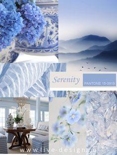В коллекции модных цветов Весна-Лето 2016 Институт Цвета Pantone представил три оттенка из синей цветовой гаммы. Один из них назван цветом 2016 года. Это пастельный голубовато-сиреневый оттенокSer...
